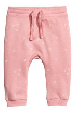 Joggers - Dusky pink/Heart -  | H&M 1