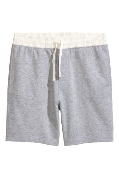 Pyjama shorts - Grey marl - Men | H&M