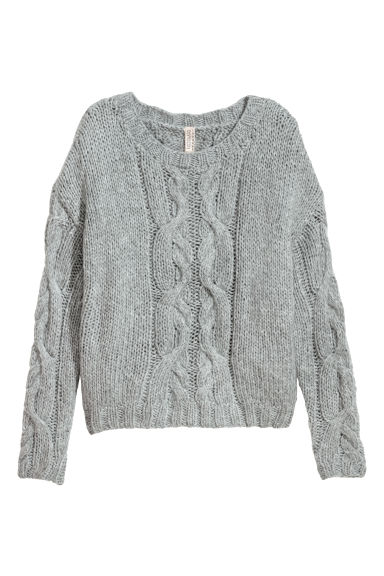 Cable-knit jumper - Dusky blue -  | H&M GB
