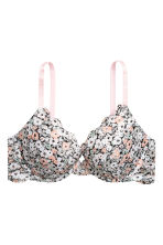 Lace push-up bra - White/Floral - Ladies | H&M CN 2