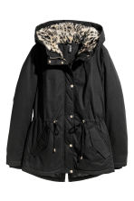 Padded parka - Black/Leopard print - Ladies | H&M 2