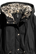 Padded parka - Black/Leopard print - Ladies | H&M 3