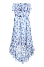 荷葉邊洋裝 - Light blue/Floral - Ladies | H&M 2