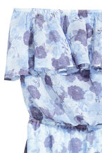 荷葉邊洋裝 - Light blue/Floral - Ladies | H&M 3