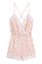 Playsuit with lace - Pink/Floral - Ladies | H&M 2