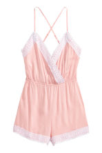 Playsuit with lace - Light pink - Ladies | H&M 2