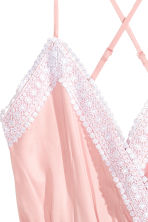 Playsuit with lace - Light pink - Ladies | H&M 3