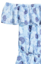 Off-the-shoulder playsuit - Light blue/Floral - Ladies | H&M 3