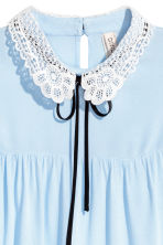 Lace-collar blouse - Light blue - Ladies | H&M 3