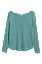 H&M+ Long-sleeved jersey top - Dusky green - Ladies | H&M CN 2
