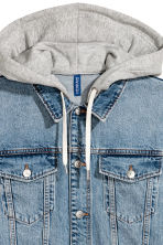 Denim jacket with a hood - Denim blue/Grey - Men | H&M 3