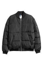 Quilted bomber jacket - Black - Men | H&M 2