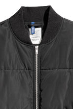 Quilted bomber jacket - Black - Men | H&M 3