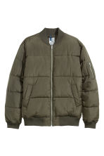 Quilted bomber jacket - Khaki green - Men | H&M 2