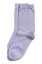 2-pack glittery socks - Purple - Ladies | H&M 2
