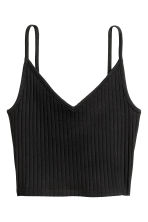 Jersey crop top - Black - Ladies | H&M IE 2