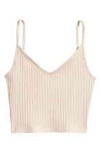 Jersey crop top - Beige - Ladies | H&M 2