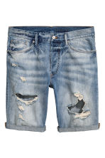 Denim shorts Trashed - Denim blue - Men | H&M CA 2