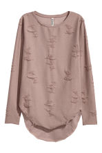 Trashed top - 褐色 - Ladies | H&M CN 2