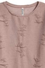 Trashed top - 褐色 - Ladies | H&M CN 3