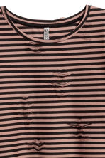 Trashed top - Rust/Black striped - Ladies | H&M 3