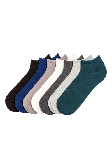 7-pack trainer socks - Blue/Petrol - Men | H&M CN