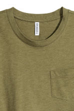 Cropped T-shirt - Khaki green marl - Ladies | H&M CN 3