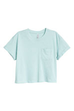 Cropped T-shirt - Mint - Ladies | H&M 2