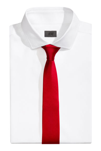 Satin tie - Red - Men | H&M CA 1