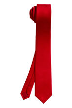 Satin tie - Red - Men | H&M CA 2