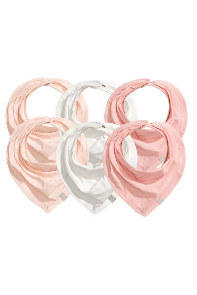 6-pack triangular scarves - Powder pink -  | H&M 1
