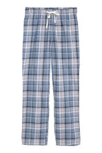 Flannel pyjama bottoms - Blue/Pink checked - Ladies | H&M GB 2