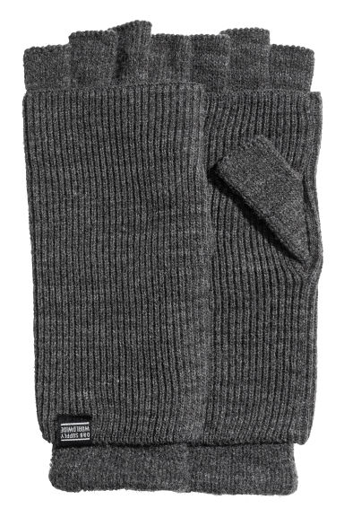 Fingerless gloves - Dark grey - Men | H&M 1