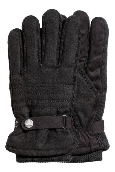 Wool-blend gloves - Black - Men | H&M GB