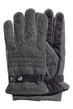 Wool-blend gloves - Dark grey marl - Men | H&M CN 1
