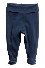 2-pack trousers with feet - Dark blue -  | H&M CA 2