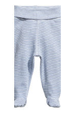 2-pack trousers with feet - Dark blue -  | H&M CA 3