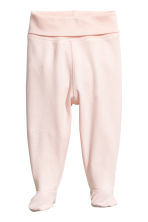 2-pack trousers with feet - Powder pink -  | H&M CN 2