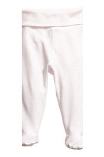 2-pack trousers with feet - Powder pink -  | H&M CN 3