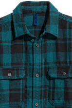 Checked twill shirt - Dark turquoise/Checked -  | H&M 2