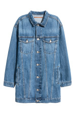 Long denim jacket - Dark denim blue - Ladies | H&M CA