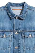 Long denim jacket - Dark denim blue - Ladies | H&M 4
