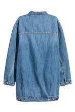 Long denim jacket - Dark denim blue - Ladies | H&M 3