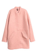 Coat in bouclé yarn - Vintage pink - Ladies | H&M CN 2