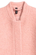 Coat in bouclé yarn - Vintage pink - Ladies | H&M CN 3
