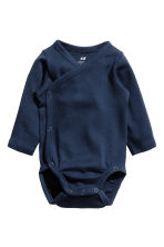 2-pack long-sleeved bodysuits - Dark blue - Kids | H&M 2