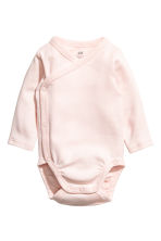 2-pack long-sleeved bodysuits - Powder pink - Kids | H&M 2