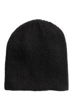 Rib-knit hat - Black - Men | H&M 1