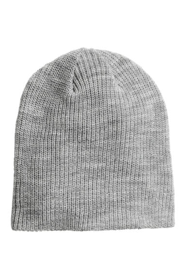 Rib-knit hat - Light grey marl - Men | H&M 1