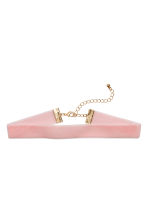 Velvet choker - Light pink - Ladies | H&M 1